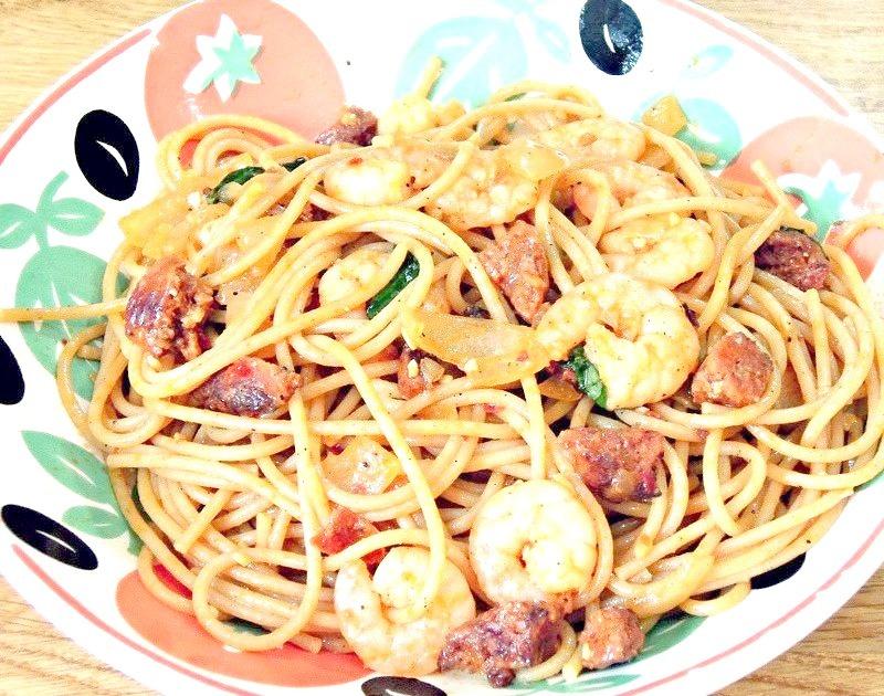 King Prawn and Chorizo Pasta