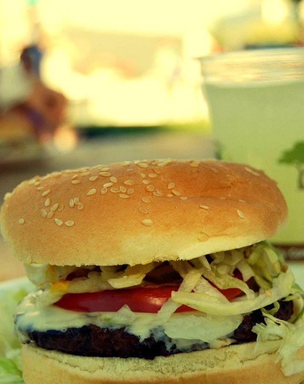 Cheeseburger and Lemonade at the Bite of Seattle