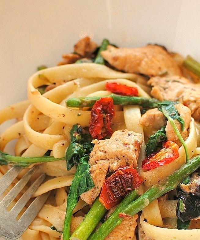 Recipe: Chicken & Vegetable Fettuccine