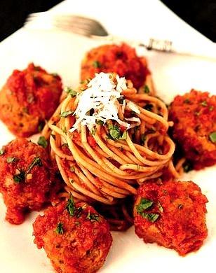 Cannellini Bean Vegetarian Meatballs with Tomato Sauce Recipe